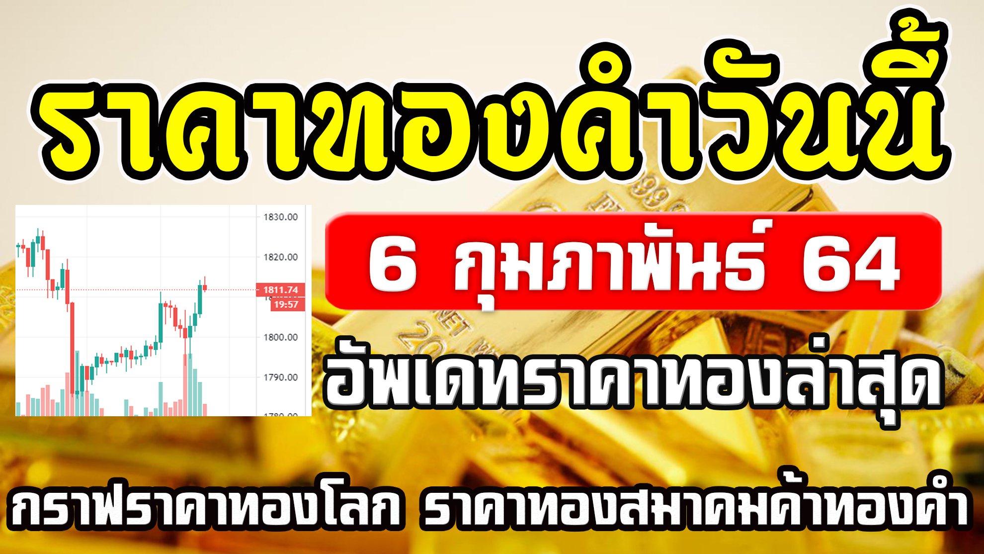 Live ราคาทองวันนี้ 6/2/64 ราคาทองคำวันนี้ 6กุมภาพันธ์64 อัพเดทราคาทองล่าสุด กราฟราคาทองโลก Gold Spot